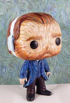 Vincent van Gogh custom Funko Pop Vinyl Figurine Art Toy with Starry Night jacket Pop Custom, Custom Funko Pop, Funko Pop Vinyl, Custom Boxes, Toy Art, Art Pop, Van Gogh Arte, Pop Dolls, Pop Vinyl Figures