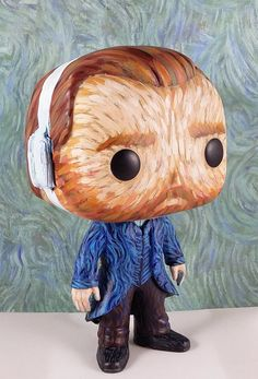 Van Gogh was crafted from an original Funko Pop! base figurine that was modified where necessary, sculpted details were added with apoxie and fully repainted with acrylics, featuring a mini reproduction of The Starry Night on his jacket. Sealed in a matte finish.   Leave a note with any specific requests (e.g. no bandage) and I will do my best to accommodate, though it will add up to 2 days to my turnaround time. I do not offer custom boxes - sorry!  This is a completed item and will be…
