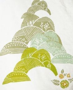 Hills Tea Towel