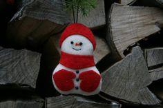 Weihnachtsdeko / Stoffanhänger Schneemann от BogThomHandmade