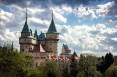 Bojnice castle (Slovak), Romantic castle with some original Gothic And Renaissance elements built in the 12th century.