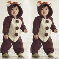 Inverno quente de lã com capuz animais modelagem bebê Polar bebê macacão Fantasia Infantil macacão de bebê Roupas Meninos