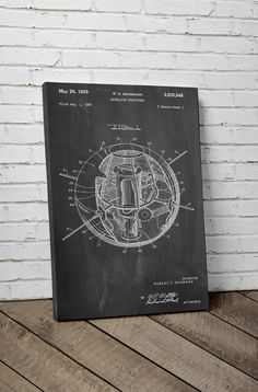 Earth Satellite Patent Canvas Art Space Canvas by PatentPrints
