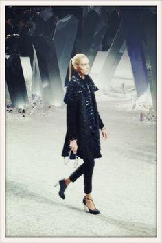 Anja at Chanel fashion show FW12