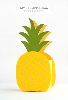 Are you bored with the traditional gift boxes that you usually get and present? Do you look for new gift box designs that are really attractive and suit Pineapple Gifts, Cute Pineapple, Pineapple Craft, Diy And Crafts, Crafts For Kids, Paper Crafts, Gift Box Design, Fruit Party, Flamingo Party