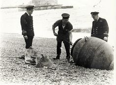 Personnel from HMS Vernon remove a mine from the beach Image reproduced with kind permission of The Royal Pavilion and Museums Brighton and Hove Types Of Photography, Candid Photography, Documentary Photography, Aerial Photography, Wildlife Photography, Street Photography, Landscape Photography, Brighton Sussex, Brighton And Hove