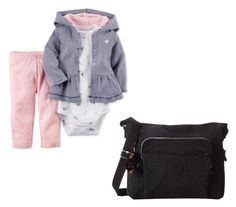 """""""Umehito Newborn"""" by shattereddemon ❤ liked on Polyvore featuring Carter's and Kipling"""