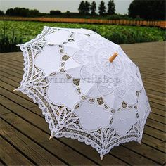 Vintage Fashion Worldoor® White Wedding Lace Parasol Umbrella Victorian Lady Costume Accessory Bridal Party Decoration Photo Props/New Vintage Lace Umbrella Handmade Cotton Embroidery White Battenburg Lace Parasol Umbrella Wedding Decorations Lace Umbrella, Lace Parasol, Umbrella Wedding, Wedding Umbrellas, Vintage Umbrella, Sun Parasol, Decoration Photo, Party Decoration, Wedding Decorations