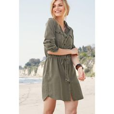 Robe chemise femme Next - Vert- Vue 1