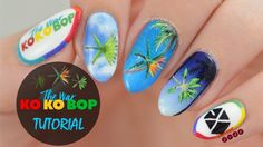 My EXO Ko Ko Bop inspired nail tutorial is finally here! I've had the design planned since like the . K Pop Nails, Love Nails, Swag Nails, Hair And Nails, Mary Janes, Nails First, Work Hairstyles, Dream Nails, Nail Tutorials