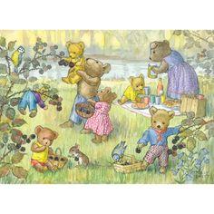 Teddy Bears & Blackberries by Molly Brett