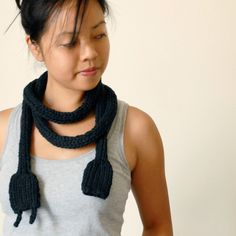 Chunky Statement Knitted Power Cord - Geek Scarf - Bold Nerdy Necklace - Oversized Toy. $110.00, via Etsy.