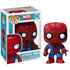 Spider Man SPider Man Marvel Universe Comics Pop Vinyl Bobble Head by Funko Funko Pop Marvel, Marvel Pop Vinyl, Funko Pop Spiderman, Spiderman Spiderman, Lego Batman, Figurine Pop Marvel, Pop Figurine, Marvel Universe, Pop Vinyl Figures
