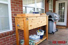 DIY Patio Cooler Grill Cart-109