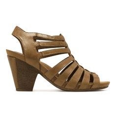 Rockport Women's Cobb Hill Taylor Strappy Sandal, Size: 10 M, Brown