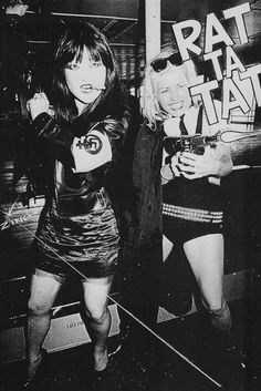 """zombiesenelghetto: """" Anya Phillips and Debbie Harry, panel from Punk Magazine's 'The Legend of Nick Detroit', 1976 """""""