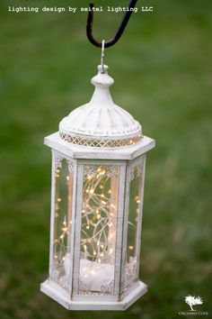 A Candle Lantern With Fairy Lights By Seitel Lighting Llc