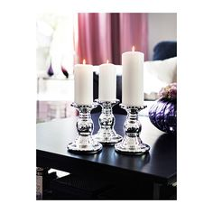 SKIMMER Block candle holder IKEA Mouth blown; each candle holder is shaped by a skilled craftsman. $9.99