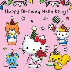 Hello Kitty Outfit, Hello Kitty Clothes, Sanrio Wallpaper, Hello Kitty Wallpaper, Hello Kitty Imagenes, Hello Sanrio, Birthday Cards, Happy Birthday, Hello Kitty Pictures