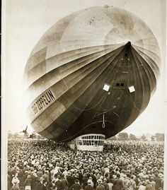 German Graf Zeppelin ~ The Hindenburg departed from Frankfurt on the evening of May 3, 1937 on the first of its ten round trips between Europe and the United States scheduled for its second year of commercial service.