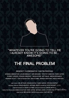 The Final Problem - Jim Moriarty by MacGuffin Designs  Available to buy here: https://www.etsy.com/uk/listing/119005526/sherlock-foes-edition-poster-choose-from  and here: https://society6.com/product/the-final-problem-jim-moriarty_print
