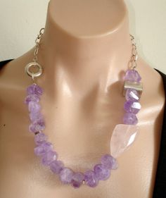 ASHIRA Natural Amethyst and Natural Rose Quartz by AshiraJewelry