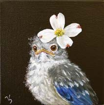 While shopping in Winter Park, we found the most charming painter of birds, Vicki Sawyer. My daughter hates birds. She's afraid of birds. Bachelorette Party Invitations, Bird Illustration, Whimsical Art, Bird Art, Beautiful Birds, Blue Bird, Pet Birds, Cool Art, Art Drawings