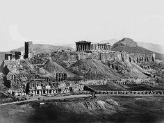 The Acropolis in The Parthenon was built under Pericles in century Athens Athens Acropolis, Parthenon, Athens Greece, Ancient Greek Architecture, Historical Architecture, Old Pictures, Old Photos, Empire State Building, Greek History
