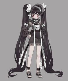 "ᴍɪᴍɪ on Twitter: ""Black… "" Fantasy Character, Female Character Design, Character Design Inspiration, Character Concept, Character Art, Cute Characters, Female Characters, Kawaii Art, Kawaii Anime"