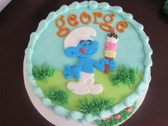 DIY Smurf cake! http://www.ivillage.com/smurf-birthday-party-theme-and-ideas/6-a-542194