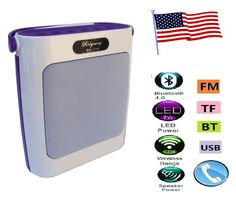 Bluetooth Speaker Portable Outdoor Wireless Speakers with USB/TF/Aux/FM Radio #RIDER
