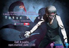 Tokyo Ghoul, 8 luglio l'anime sarà trasmesso gratis. In contemporanea con il Giappone su Popcorntv e www.VVVVID.it arriverà l'atteso anime horror.