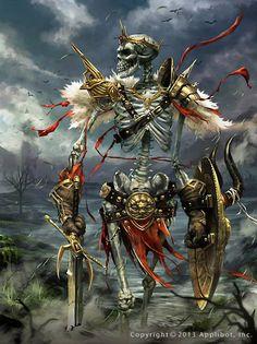 Artist: Derrick Chew aka dcwj - Title: Wandering Skeleton - Card: Unknown
