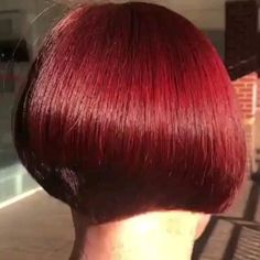 Bob With Fringe Bangs, Short Stacked Bobs, Dark Bob, Shaved Nape, Stacked Bob Hairstyles, Ash Brown Hair, Hair Videos, Haircuts, Hair Color