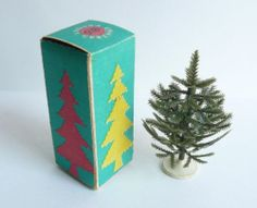 1968 USSR Vintage Russian Soviet New Year's Christmas Tree MINIATURE in Box
