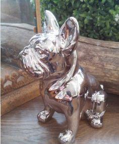 Hund Bulldogge Dekoration Figur Keramik Schatzkiste Oberaudorf