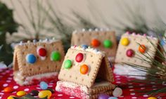 Gingerbread houses are a true Christmas tradition. These little cookie houses are a simplified version that the kids will love making and eating.