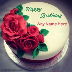 Make A Birthday Cake For Girlfriend With Her Name On It And Send To Facebook