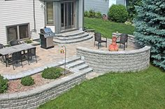 Curved Steps To Paver Patio Yeah I Did That Agape