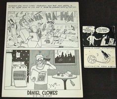 Business cards created during Clowes' short-lived illustrator phase--between art school and Lloyd Llewellyn #1. 1984.     Instil New Habits. This is a site for getting information on How to Make Money on-Line for Free!