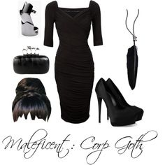 Corp Goth wardrobe inspiration: Maleficent (The hairstyle is the only thing I wouldn't wear) Alternative Outfits, Alternative Fashion, Business Outfits, Business Fashion, Mom Outfits, Pretty Outfits, Corp Goth, Corporate Goth, Goth Look