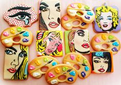 Pop Art Cookies     Cookie By Compassionate Cake