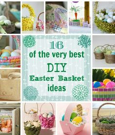 16 of the very best DIY Easter basket ideas! So many great ones in here!