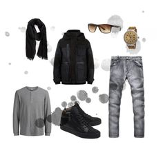 """""""#new_set_15"""" by benelux2 ❤ liked on Polyvore featuring Jack & Jones, Dsquared2, John Varvatos * U.S.A., Giuseppe Zanotti, Glycine, Ray-Ban, men's fashion and menswear"""