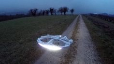 A home built Millenium Falcon drone was an instant hit in social media.  (Image Credit: Olivierc600 http://imgur.com/a/CjYA6)