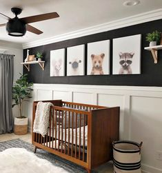 Baby Boy Nursery Room İdeas 115193702956927251 - Baby Grizzly Bear Printable Art – The Crown Prints Source by AlexandraBethDC Childrens Room Decor, Baby Nursery Decor, Baby Decor, Nursery Grey, Nursery Modern, Safari Nursery, Dark Wood Nursery, Nursery Room Ideas, Simple Baby Nursery