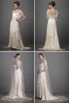 BHLDN wedding dress by Irish designer Catherine Dean... this is quite boho...