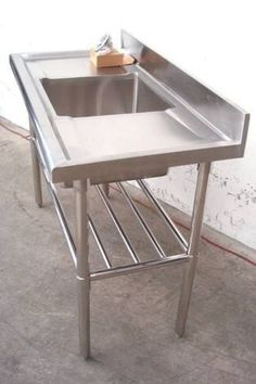 Gridmann Stainless Steel Commercial Kitchen Prep Work Table - Stainless steel work table with sink
