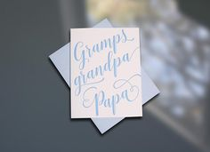 Gramps — Father's Day Card - sky of blue cards
