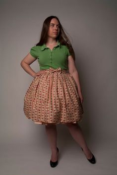 How sew a box pleated skirt. No pattern required!